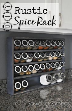 Sawdust2stitches  pin  spice rack...Oh I need to make this....I LOVE it!!!