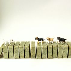 Love these product shots with little Schleich doggies!