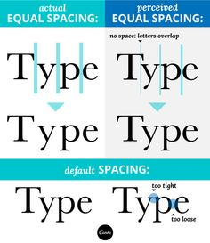 In this article, we talk about the definition of kerning and its importance in design. Learn more about kerning here, and start kerning like a pro! Web Design, Graphic Design Tutorials, Graphic Design Inspiration, Logo Design, Creative Design, Typography Fonts, Typography Logo, Graphic Design Typography, Logos
