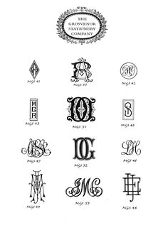 The Classic Monograms  www.grosvenorstationerycompany.com