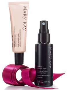 From a prime start to a perfect finish, the girl on your holiday list will be ready for her close-up with this set! It includes: Mary Kay® Foundation Primer Sunscreen Broad Spectrum SPF 15* Mary Kay® Makeup Finishing Spray by Skindinävia *Over-the-counter drug product