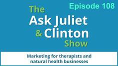 In episode 108, Juliet and Clinton answer the following questions: 1) How can I build my email list? 2) What should I put in my email autoresponder when people sign up for my email list?  3) Do I need to set up my email template differently for mobile phones? http://askjulietandclinton.com/episode-108/