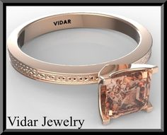 Engagement RingPink Morganite Engagement by Vidarjewelry on Etsy, $1150.00