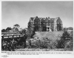 Abigail Morse Hall and Wooster Bridge - 1920s