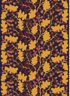Pähkinäpuu fabric, Marimekko