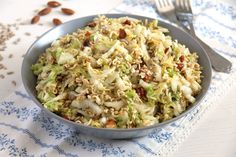 ramen noodle cabbage Ramen Napa Cabbage Salad with Sunflower Seeds and Almonds