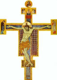 Maestro di San Francesco - Croce dipinta (di Perugia) - 1272 - Galleria Nazionale dell'Umbria. Perugia (Italia)