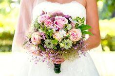 Brautstrauß in creme rosa