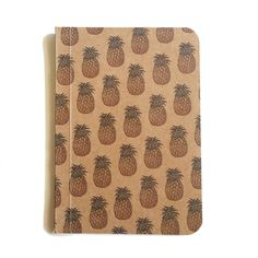 Pineapple Notebook Pattern Notebook Pocket Journal by SlimNote