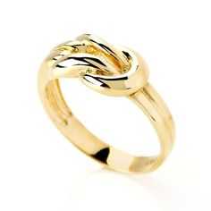 This ring is the perfect reminder that when you reach the end of your rope, tie a knot and hang on! | 10k Yellow Gold Knot Band Ring [Promotional Pin]