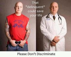 "That ""delinquent"" could save your life.  #Think"