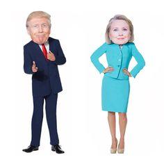 Giant Hillary Clinton & Donald Trump Head Mask