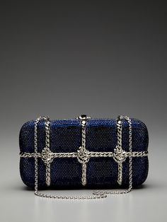 Metal Rope Crystal Minaudiere by Judith Leiber on Gilt. This is so pretty!!!!!
