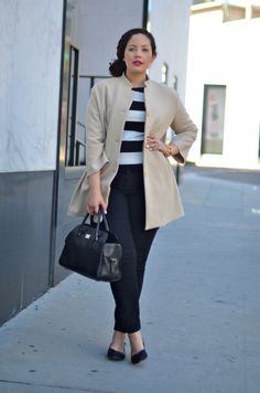 Girl With Curves: Classic Neutrals. Like this look for a full figure. Curvy Girl Fashion, Womens Fashion For Work, Work Fashion, Plus Size Fashion, Curvy Outfits, Plus Size Outfits, Curvy Work Outfit, Looks Street Style, Winter Mode