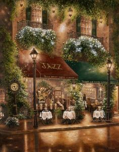 Peter Prisco Trio II by Brian J. Skerry Landscapes Art Print - 56 x 71 cm Jazz Cafe, Beautiful Places, Beautiful Pictures, Thomas Kinkade, Mail Art, Beautiful Paintings, Art Pictures, Framed Art Prints, Amazing Art