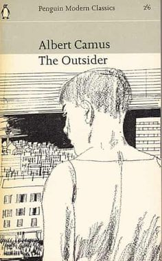 """The Outsider (L'Étranger), by Albert Camus, finished Winner of the Nobel Prize in literature 1957 """"for his important literary production, which with clear-sighted earnestness illuminates the problems of the human conscience in our times"""". Book Cover Art, Book Cover Design, Book Design, Vintage Book Covers, Vintage Books, Vintage Magazines, Book Writer, Book Authors, Cool Books"""