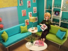 "Aqua living! Neo-Retro Decor, Furnishings and Set Design in 1:6 scale (Barbie doll size!) by ""Welcome Home"""