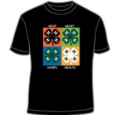 I so have this shirt, I love it and someone always says something about how cool it is!  This shirt is the winner of the 4-H Mall T-Shirt Design Contest.  Congrats to Amelia Day!