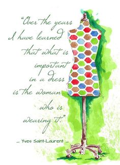 chicgoodness: ❝ A little quote for the day ❞ Watercolor by...