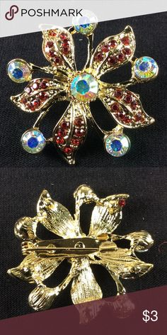 New Beautiful Flower 🌺 Brooch 🌺 Bundle 3 or more items and save 20% 🌺 Any questions let me know. 1481 Jewelry Brooches