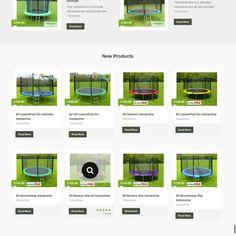 Trampoline affiliate website for sale