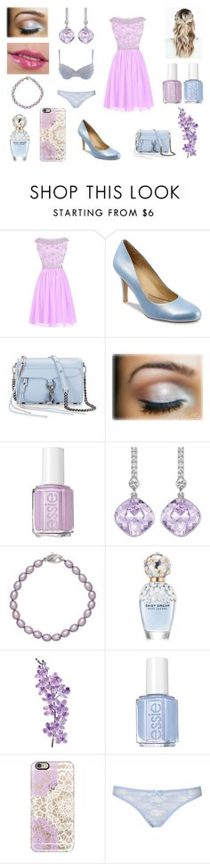 """Fancy outfit"" by mollyannsmith ❤ liked on Polyvore featuring Reception, Trotters, Rebecca Minkoff, Essie, Swarovski, Honora, Marc Jacobs, Laura Cole, Casetify and Topshop"