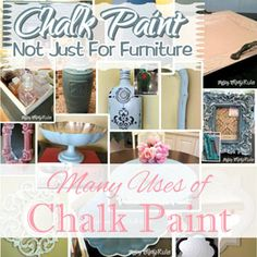 Annie Sloan Chalk Paint Not Just For Furniture / Artsy Chicks Rule. Lot's of good idea's for things to chalk paint. Repainting Furniture, Chalk Paint Furniture, Furniture Makeover, Laminate Furniture, Dresser Makeovers, Chair Makeover, Cabinet Furniture, Furniture Projects, Diy Furniture