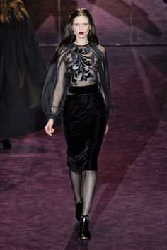 THE BEST LOOKS FROM MILAN FASHION GUCCI FALL 2012   #fashion #trends #2012