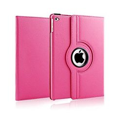 US New Magnetic Flip PU Leather Stand Cover Case For iPad Mini 2 3 4 Dark Pink