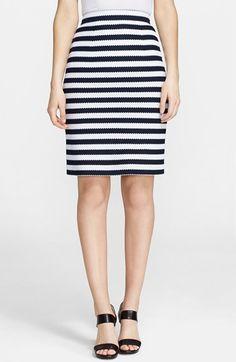 Diane von Furstenberg 'Walda' Stripe Knit Cotton Skirt available at #Nordstrom