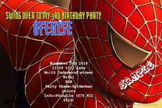 Gifts are welcome Spiderman Theme Party, Spiderman Birthday Invitations, Superhero Birthday Invitations, Free Printable Invitations Templates, Online Invitations, Birthday Invitation Templates, Invitation Layout, The Ranch, Printing Services