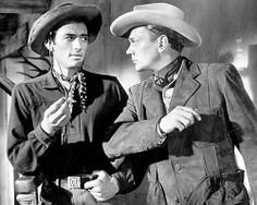 DUEL IN THE SUN (1946) - Gregory Peck & Joseph Cotton portray the battling McCandles Brothers of Spanish Bit Ranch - Produced by David O. Selznick - Directed by King Vidor - Selznick International - Movie Still.