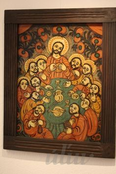 Zatvoriť okno Christian Paintings, Jesus Art, Biblical Art, Last Supper, Folk, Religion, Objects, Arts And Crafts, Frame