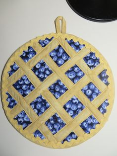 And a blueberry pie potholder!