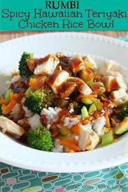 Dessert Now, Dinner Later!: Spicy Hawaiian Teriyaki Chicken Rice Bowl (Rumbi Copycat)