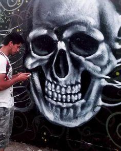 "Fase :""Letargo""  #Art #Arte #graffiti #Disciplina #mural #urbanart #Cráneo #skull #SkullArt #graffitiart #friends #streetart #muralism #collaboration #Paint #Perú #knauff #bestartpage #artfido #artistsdrop #artistsoninstagram #artist_unity_ #artist_discover #globalstreetart #urbanart #artist_showcase #Perú #Pinterest #Jech"