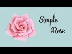 Sugar Rose Tutorial - YouTube