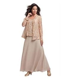Expensive Plus size designer long mother of the groom dresses / MOB gowns with lace jacket for spring and summer