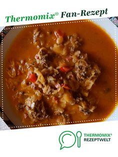 Sauerkrautsuppe mit Hackfleisch, Wiener oder Cabanossi / Rezept des Tages von la lunica strega. Ein Thermomix ® Rezept aus der Kategorie Suppen auf www.rezeptwelt.de, der Thermomix ® Community.