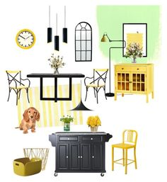 """'Sunshine' Kitchen"" by silverlime2013 on Polyvore featuring interior, interiors, interior design, home, home decor, interior decorating, nuLOOM, Threshold, XVL and Horgans"