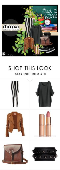 """""""School"""" by atylol ❤ liked on Polyvore featuring Boohoo, Charlotte Tilbury, Toast, Valentino and Vans"""