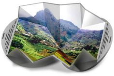 """Electronic Paper  Electronic paper, a thin, flexible display technology that reveals digital images in full color, was invented by Israeli company Magink. Inventables imagines that the material could be used to create a portable """"origami DVD player,"""" which would unfold to reveal a big screen."""