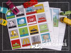 Six free printable car games like I Spy License Plates by Kiki and Company via lilblueboo.com