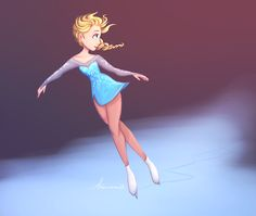 """Skating for Norway, it's Elsa Arendelle by artemismoon12.tumblr.com"