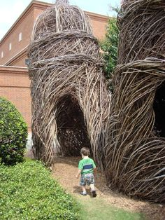 I love the creations of Patrick Dougherty!