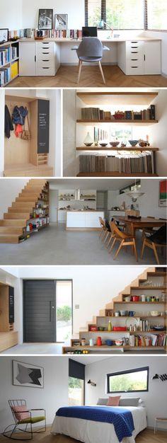 Escalier Interior Design Inspiration, Home Decor Inspiration, Home Interior Design, Game Room Basement, Archi Design, Space Interiors, Secret Rooms, Small Living Rooms, Home Office Decor