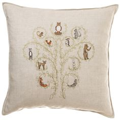 Coral and Tusk - tree of life pillow