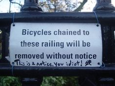this is a notice you idiot!