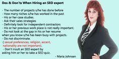 Do's and Don'ts When Hiring An SEO Expert | Multilingual SEO Blog