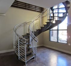 From Our Friends At Artistic Southern, Our Stainless Steel Roundbar Railing  System In A Spiral